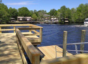 Carlson-Reynolds dock, ramp, and floating dock, dock builders near me murrells inlet sc marine construction myrtle beach sc
