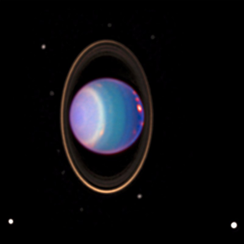 Uranus rings and moons