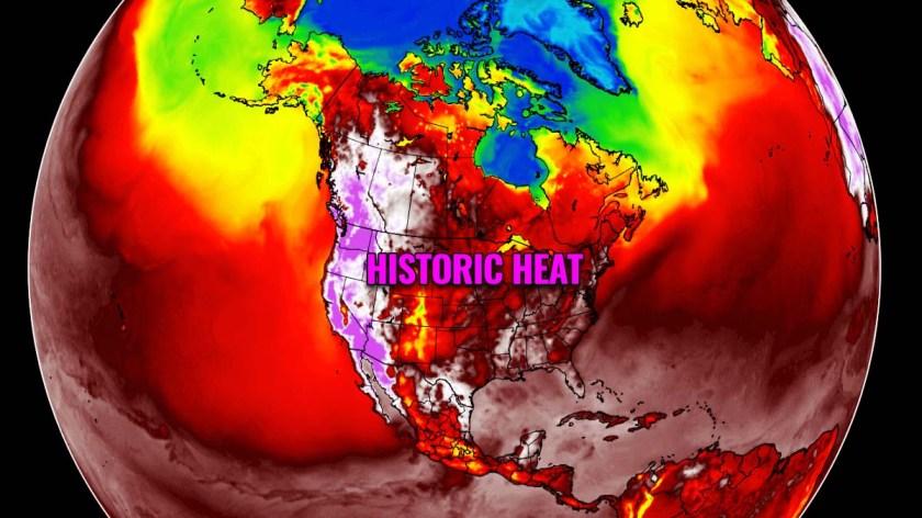 Heat Dome record ondata di caldo pacifico nord-ovest del Canada Stati Uniti evento storico