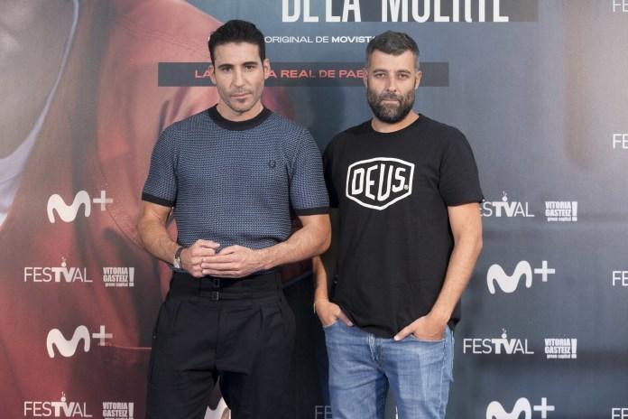 Nacho Carretero junto a Miguel Angel Silvestre, protagonista de 'En el corredor de la muerte'
