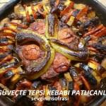 Güveçte Tepsi Kebabı Patlıcanlı