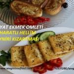 Bayat Ekmek Omleti & Baharatli Hellim Peyniri Kizartmasi