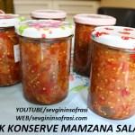 Kışlık konserve mamzana salatası