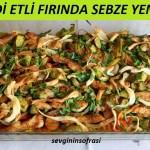 Diyet Hindi Etli Fırında Sebze Yemeği