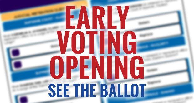 Early Voting Opens for August 7, 2014 Election