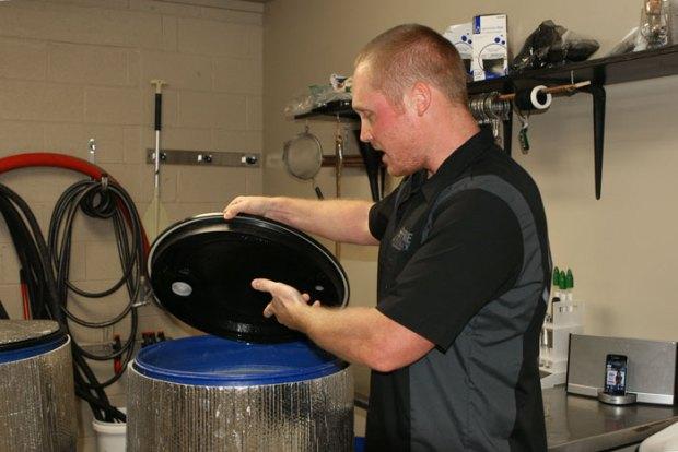 Keener Shanton explains the fermentation process.
