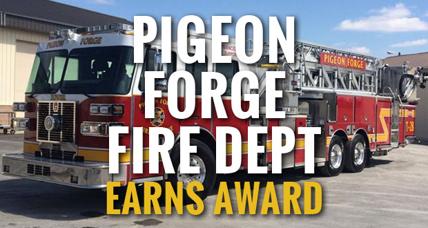 Pigeon Forge Fire Department Earns Life Safety Achievement Award