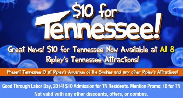 Ripley's $10 for Tennessee
