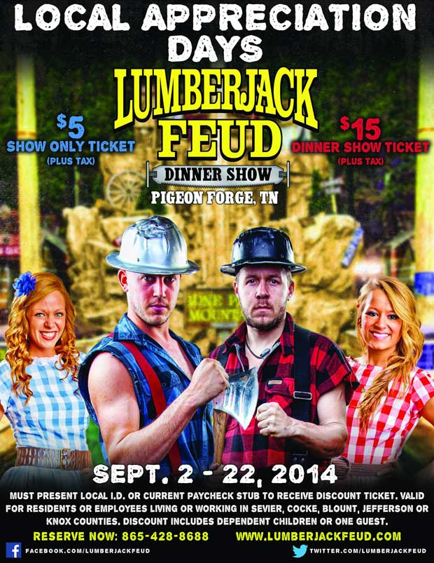 Sevier County Days at Lumberjack Feud