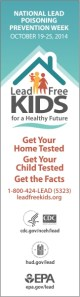 Lead Poisoning Prevention Week Banner