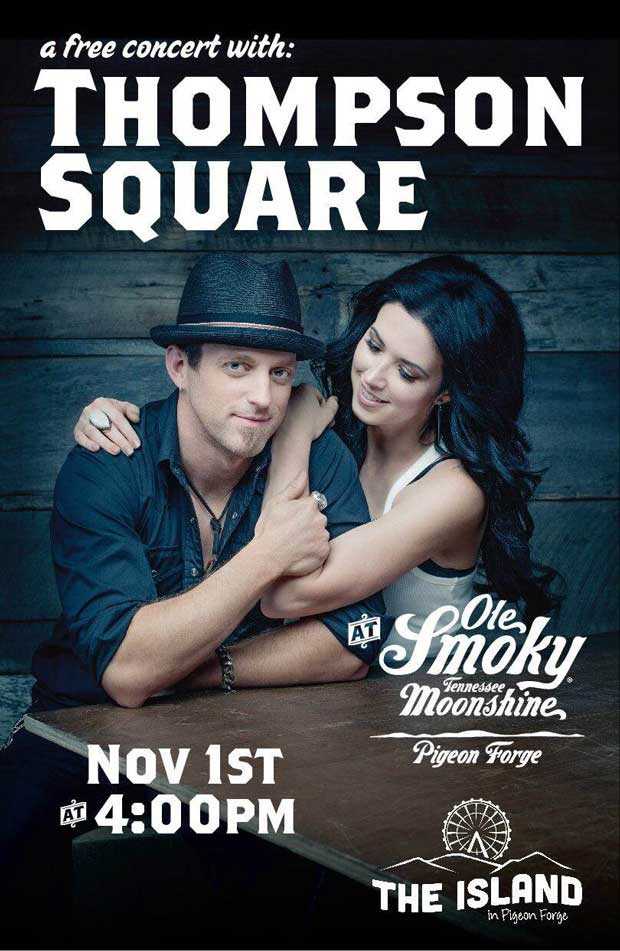 Thompson Square playing at Grand Opening of Ole Smoky Moonshine Barn at The Island in Pigeon Forge