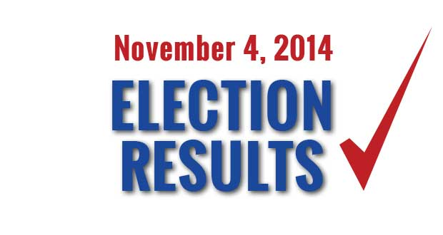 November 4, 2014 Election Results in Sevier County