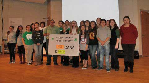 Sevier County 4-H Hooked on Helping Hunger