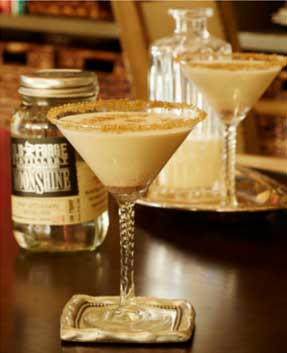 Old Forge Moonshine Holiday Cocktail Recipe Eggnog Martini