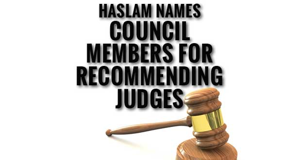 Haslam Names Governor's Council for Judicial Appointments