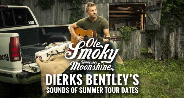 "Ole Smoky Tennessee Moonshine will be the ""'Shine of Summer"" as it continues its reign as the Official Moonshine Sponsor of platinum-selling singer/songwriter Dierks Bentley's 2015 SOUNDS OF SUMMER TOUR!"