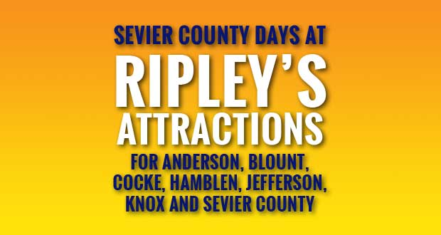 Sevier County Days at Ripley's Attractions Benefitting Sevier County Food Ministries