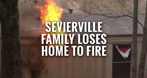 Sevierville Family Loses Home to Fire
