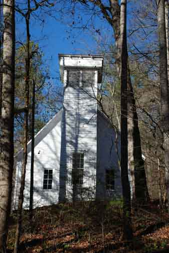 Smokemont Baptist Church in Great Smoky Mountains National Park