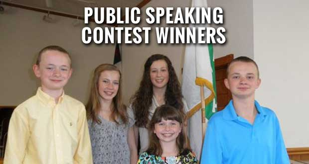 Sevier County Kids Excel in 4-H Public Speaking Contest