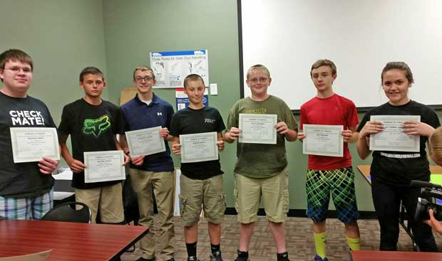 American Legion Post 104 Graduates Students from the Youth Air Rife Shooting Safety Program
