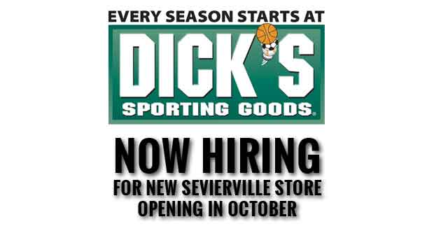 DICK'S Sporting Goods Hiring Sports and Outdoor Enthusiasts for New Sevierville Store
