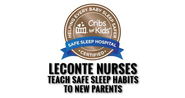 LeConte's Dolly Parton Birthing Unit achieves Safe Sleep Hospital Certification