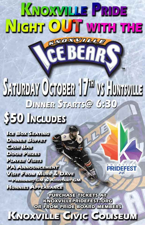 Pride Night OUT with the Ice Bears