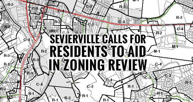 Sevierville Seeks Citizen Volunteers to Participate in Zoning Ordinance Review