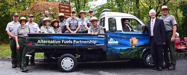 New Electric Vehicles for Great Smoky Mountains National Park Campgrounds