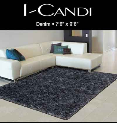 Nourison I-CANDI Collection Polyester Shag Rugs