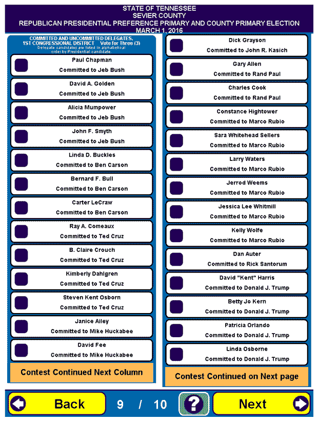 Sevier County Republican Sample Ballot 19