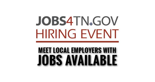 Jobs4TN Hiring Event Scheduled in Sevierville