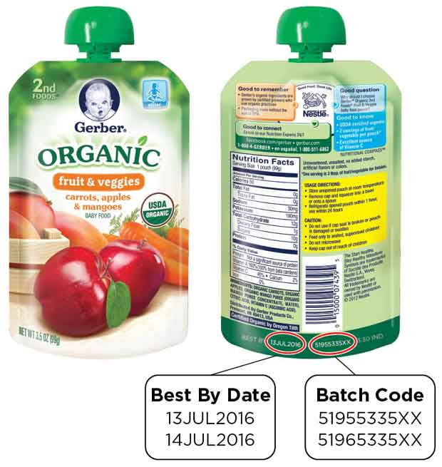 GERBER Organic 2ND FOODS Pouches - Carrots, Apples and Mangoes