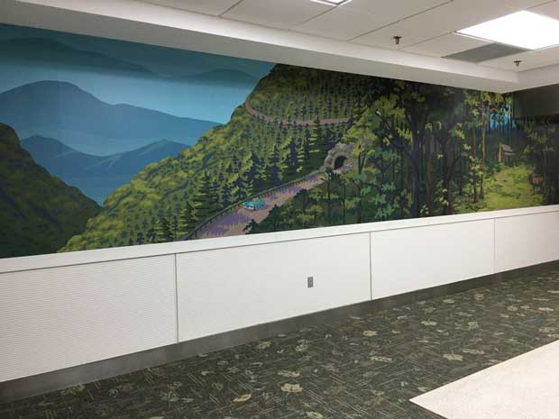 Great Smoky Mountains National Park murals at McGhee Tyson Airport