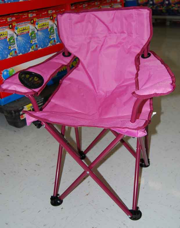 Childs lawn chair purchased by Gary Simpson at Walmart