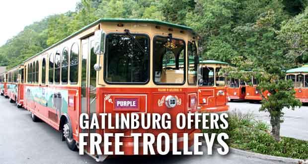 Free to Ride Gatlinburg Trolleys on the Parkway