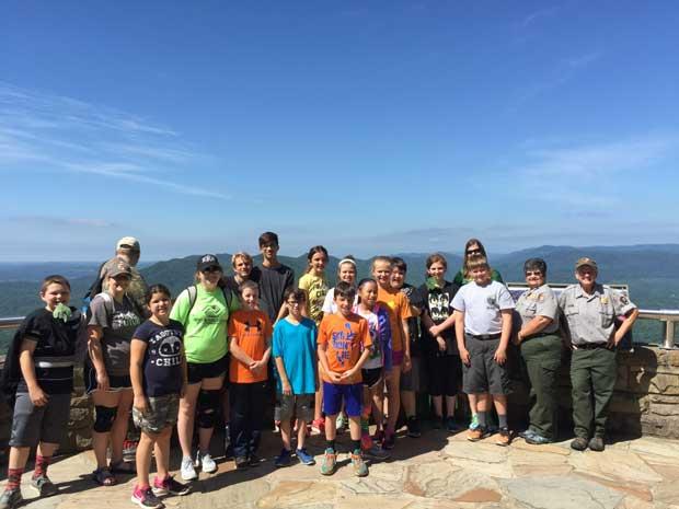 Carter Boys and Girls Club visit Cumberland Gap National Historical Park. NPS Photo.