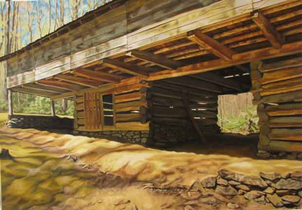 Mike Galyon of Knoxville - Spring Morning, John Messer Cantilever Barn