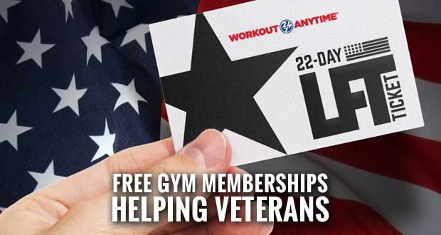 WORKOUT ANYTIME in Sevierville Partners with Lift for the 22 to Offer Veterans Free Gym Memberships
