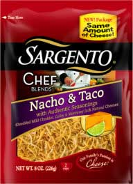 Sargento Chef Blends Shredded Nacho & Taco Cheese