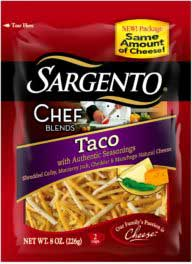 Sargento Chef Blends Shredded Taco Cheese