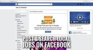 Facebook Rolls Out Feature for Business Pages to Post Jobs