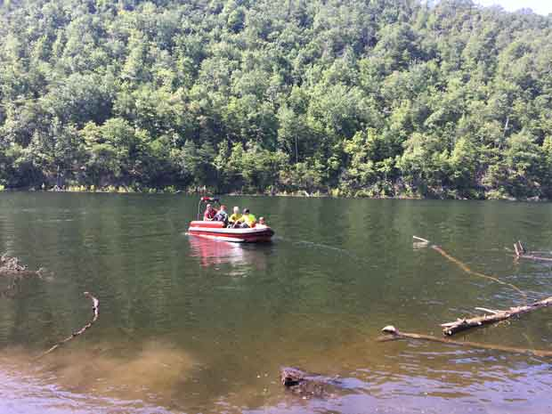 Boats transport search and rescue teams into the backcountry.