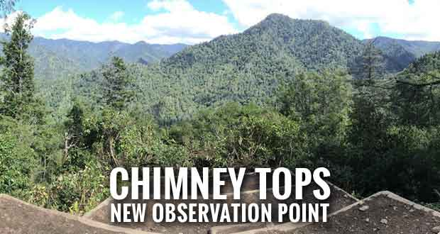 Great Smoky Mountains National Park officials will open the Chimney Tops Trail to a newly developed observation point this week.
