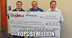 Dollywood Gives Sevier County Days Proceeds to Food Ministry