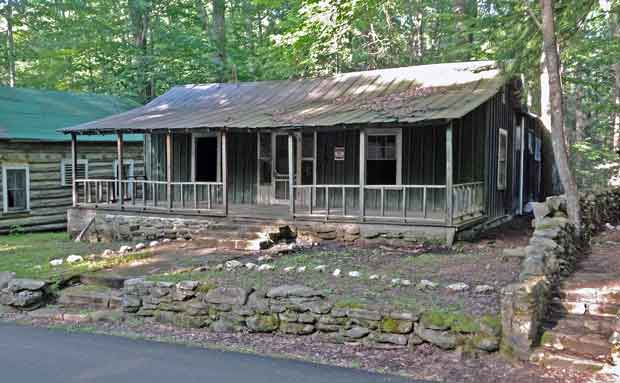 Higdon Cabin At Elkmont In Great Smoky Mountains National Park