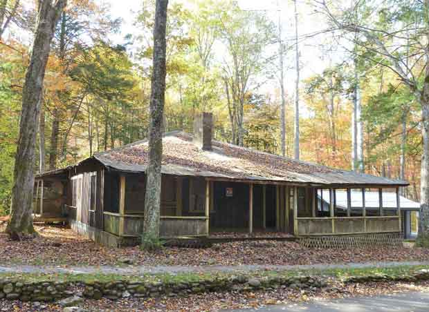 Smith Cabin At Elkmont In Great Smoky Mountains National Park