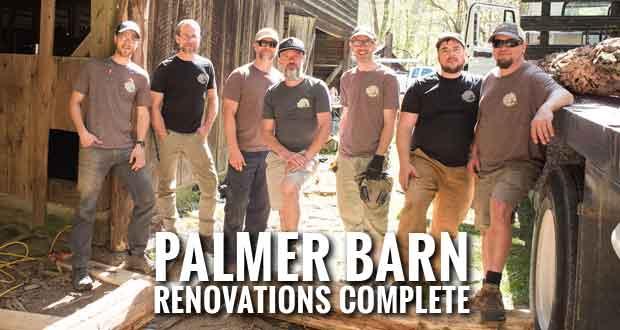 Volunteer Group Repairs Historic Palmer Barn in Cataloochee