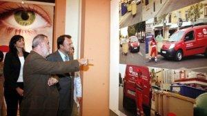 Monteseirín y Torrijos en la inauguración de la exposición del 072REUR.